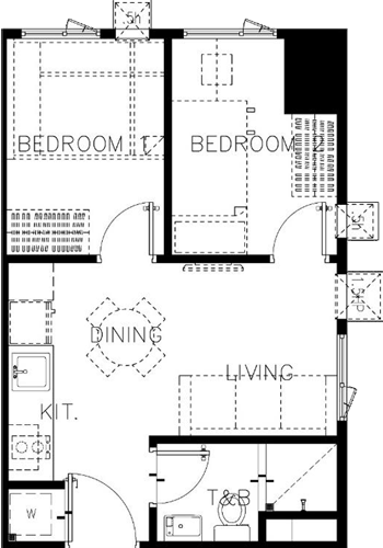 SMDC Green 2 Residences Cavite Condo 2-bedroom end unit
