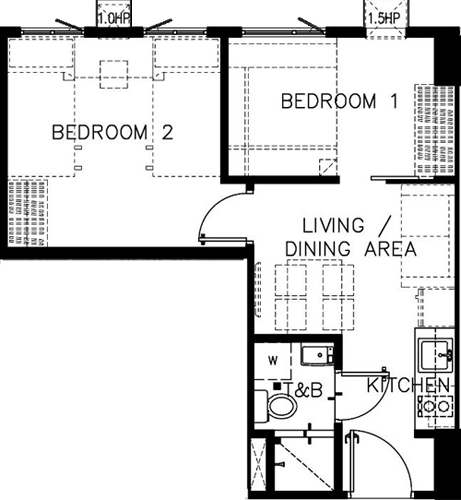 SMDC Green 2 Residences Cavite Condo 2-bedroom