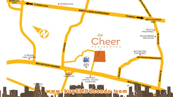 SMDC Cheer Residences Marilao Bulacan Condo Location Map