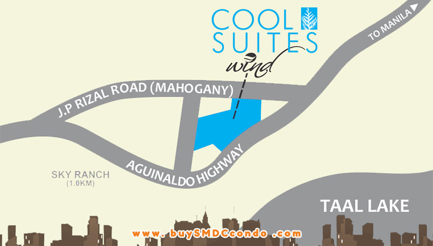 SMDC Cool Suites Tagaytay Condo Location Map