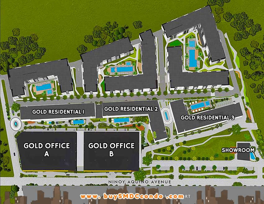 SMDC Gold Residences NAIA Manila Airport Paranaque Condo Site Development Plan