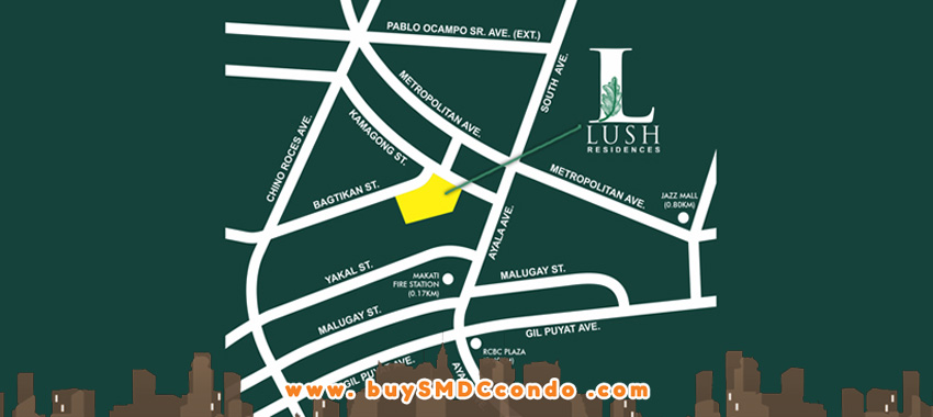 SMDC Lush Residences San Antonio Makati Condo Location Map