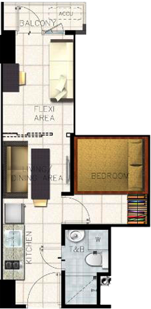 SMDC S Residences Mall of Asia Condo Family suite B with balcony