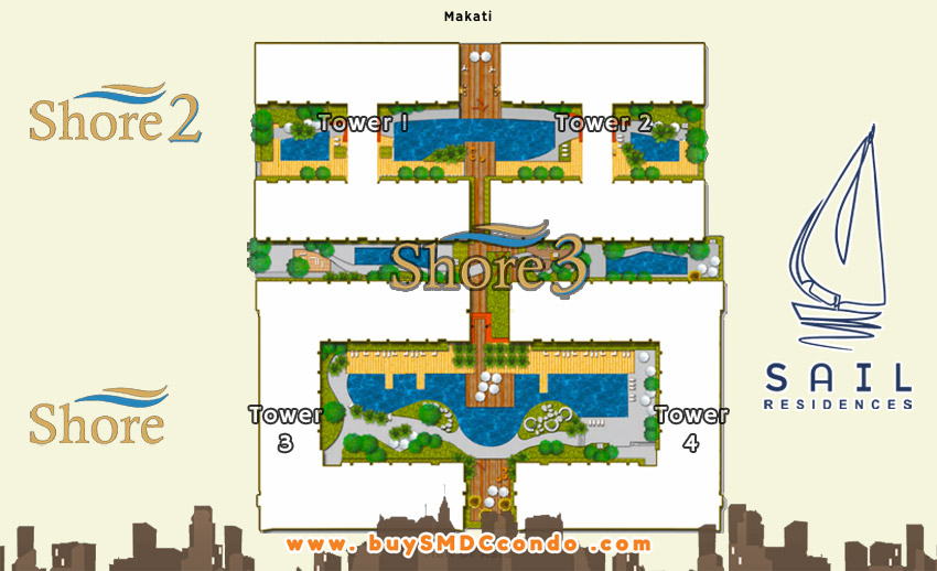 SMDC Shore 3 Residences SM Mall of Asia Pasay City Condo Site Development Plan