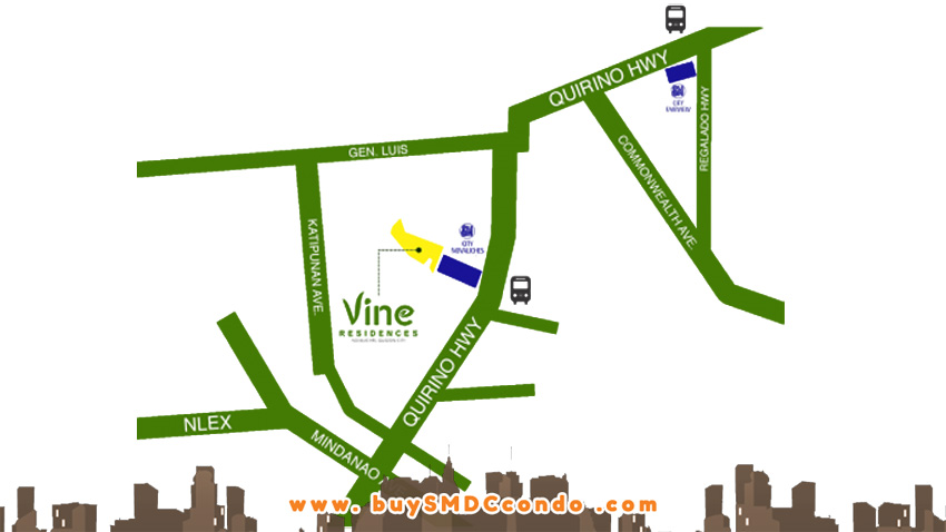 SMDC Vine Residences Novaliches Condo Location Map